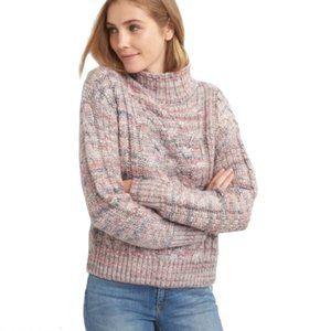 GAP Soft Knit Wool Blend Cable Knit Sweater Sz M